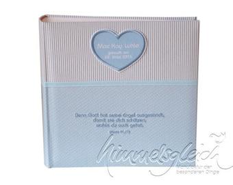 Photo album XL light blue with heart