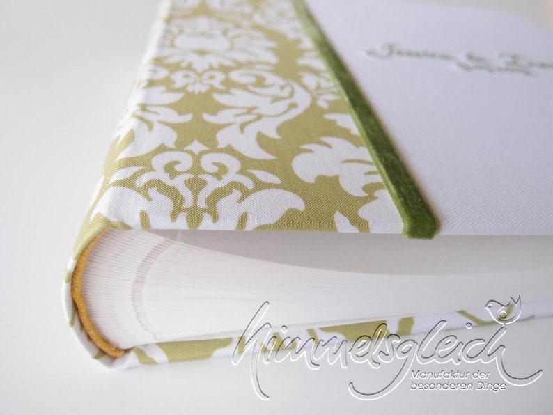 Guestbook Combination Ornaments Green
