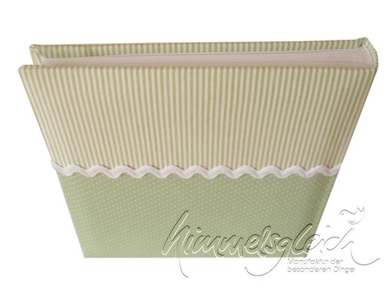 Guestbook Combination dots Stripes Green