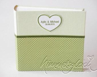 Photo Album XL Kombi Dots Stripes Green White