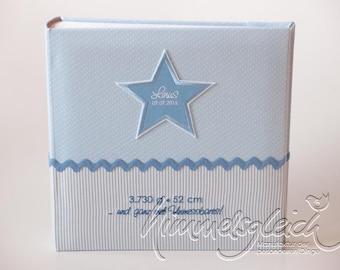 Photo album XL Kombi dots stripes light blue