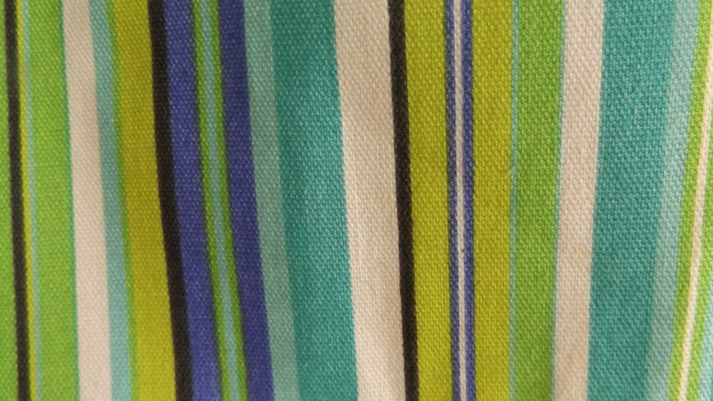 Child/'s Top-Stitched Apron in Green Black and Blue Stripes Measures 24 in Length by 18-12  Back to School Supply