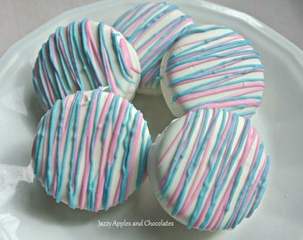 Gender Reveal Oreo Cookies. It's a Boy, It's a Girl