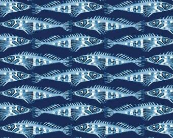 Studio e fabric FISH on Blue