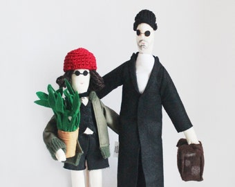 Léon - the Professional tribute dolls, movie dolls, Léon and Mathilda, movie characters, collectors, Luc Besson, Ready to Ship