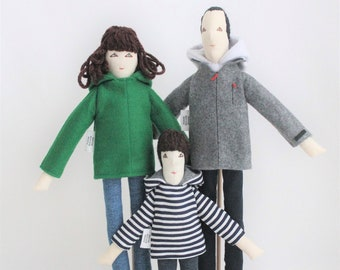 Personalized fabric dolls based on picture,  cloth dolls, art dolls, unique sons and parents anniversary birthday gift