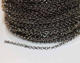 42ft Rolo Chain Gunmetal Chain 2.5mm unsoldered