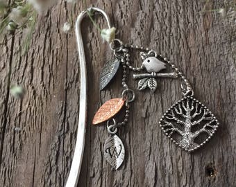 Tree of Life Personalized Antique Silver Bookmark