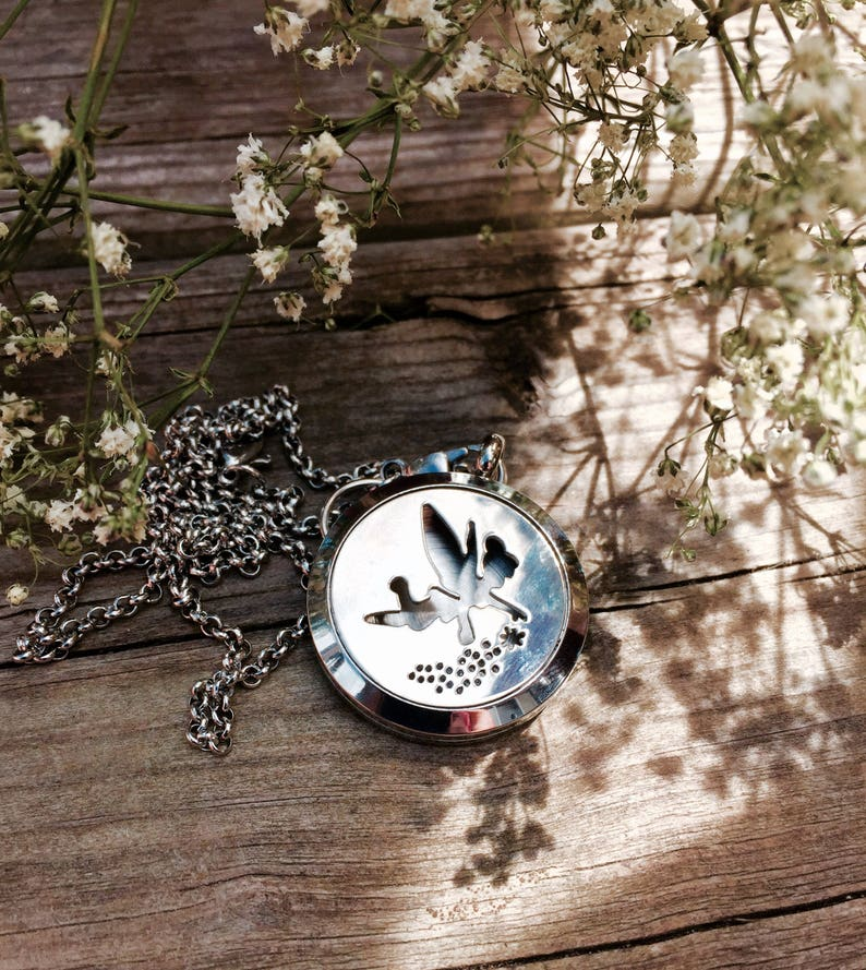 Magical Fairy Aromatherapy Oil Diffuser Locket Necklace