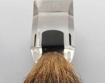 Vintage Clear LUCITE Badger Bristle SHAVING Brush BAJA Sterilized Set in Rubber Acrylic Brush Vintage Shaving Brush