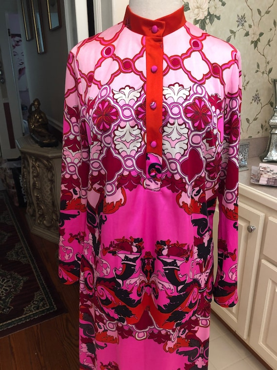 1960s Vintage Two Piece Outfit Maxi Skirt & Tunic