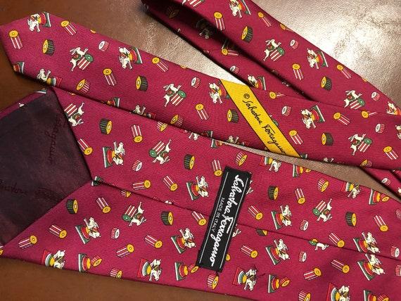 buscar bronce monte Vesubio  Vintage SALVATORE FERRAGAMO Tie Vintage Necktie Made in ITALY | Etsy