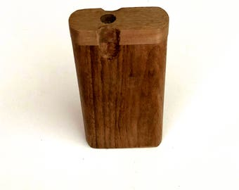 "Handmade Traditional Oak  Wood 4""  Dugout  with One Hitter  Bat and Poker"