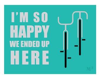 Ending Up on Bikes Poster Print