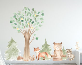Animal Wall Decal Etsy