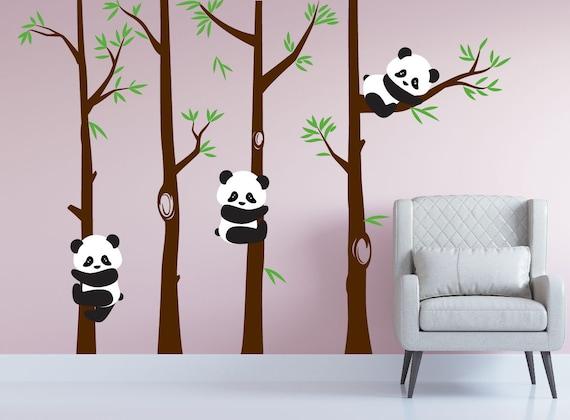 Chambre De Bebe Panda Ours Arbre Mur Chambre D Enfant Sticker Art Foret De Bambous De Stickers Chambre Enfants 1350