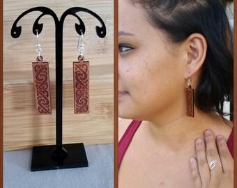 Koa Wood Earring -Maori-
