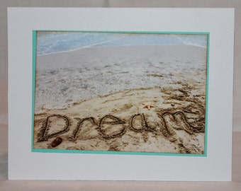 Photo card, DREAM, beach card