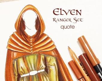 MADE TO ORDER Elven Ranger costume set, men's lar clothing, larp costume Elf, Elven costume