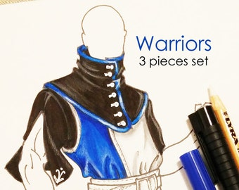 MADE TO ORDER warrior costume set, tabarda, tabbard tunic, Larp costume, men's larp clothing, renaissance costume set