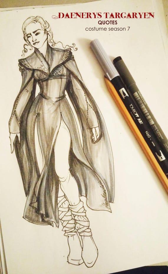 Made To Order Daenerys Targaryen Black Grey Costume Season 7 Etsy