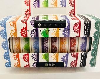 8291755738e1 Lace Border Washi Tape 10 Pack