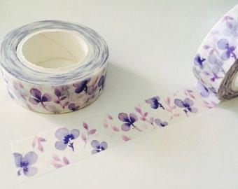 Purple Pansy Washi Tape