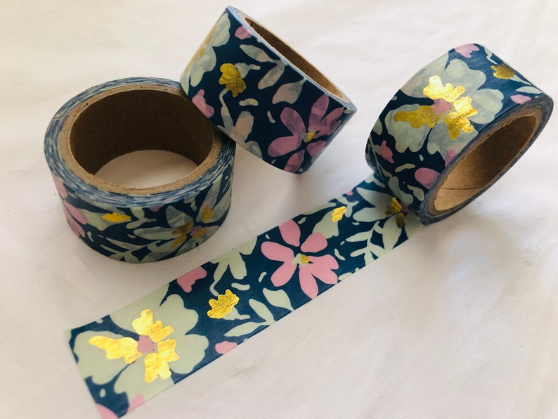 Gold Foil Blossom Washi Tape