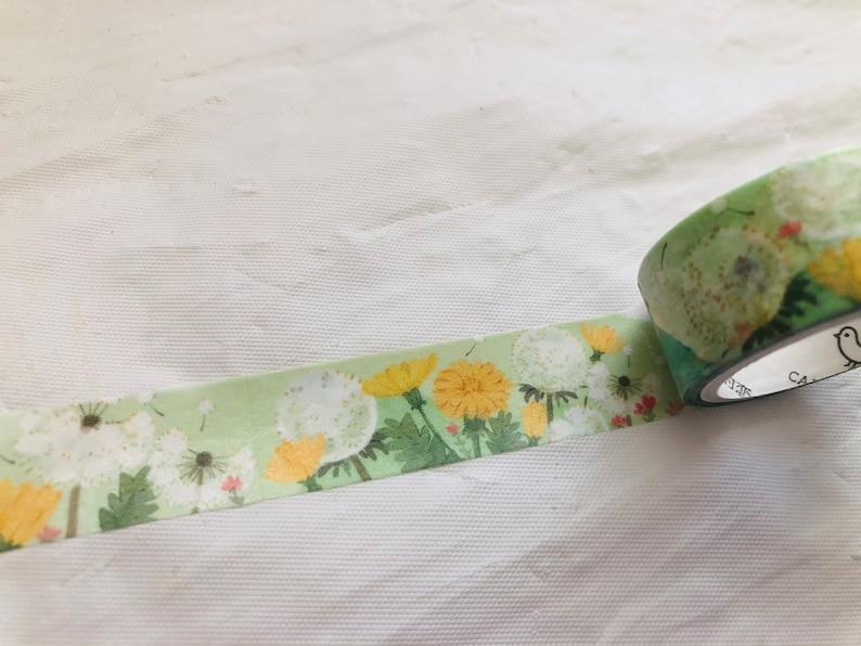 Dandelion Birds Washi Tape