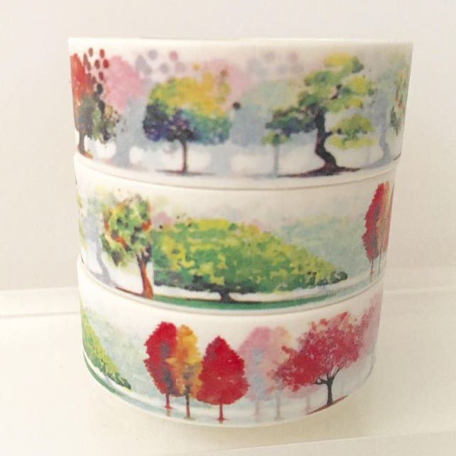 Autumn Trees Washi Tape