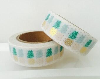 Gold Foil Pineapple Washi Tape