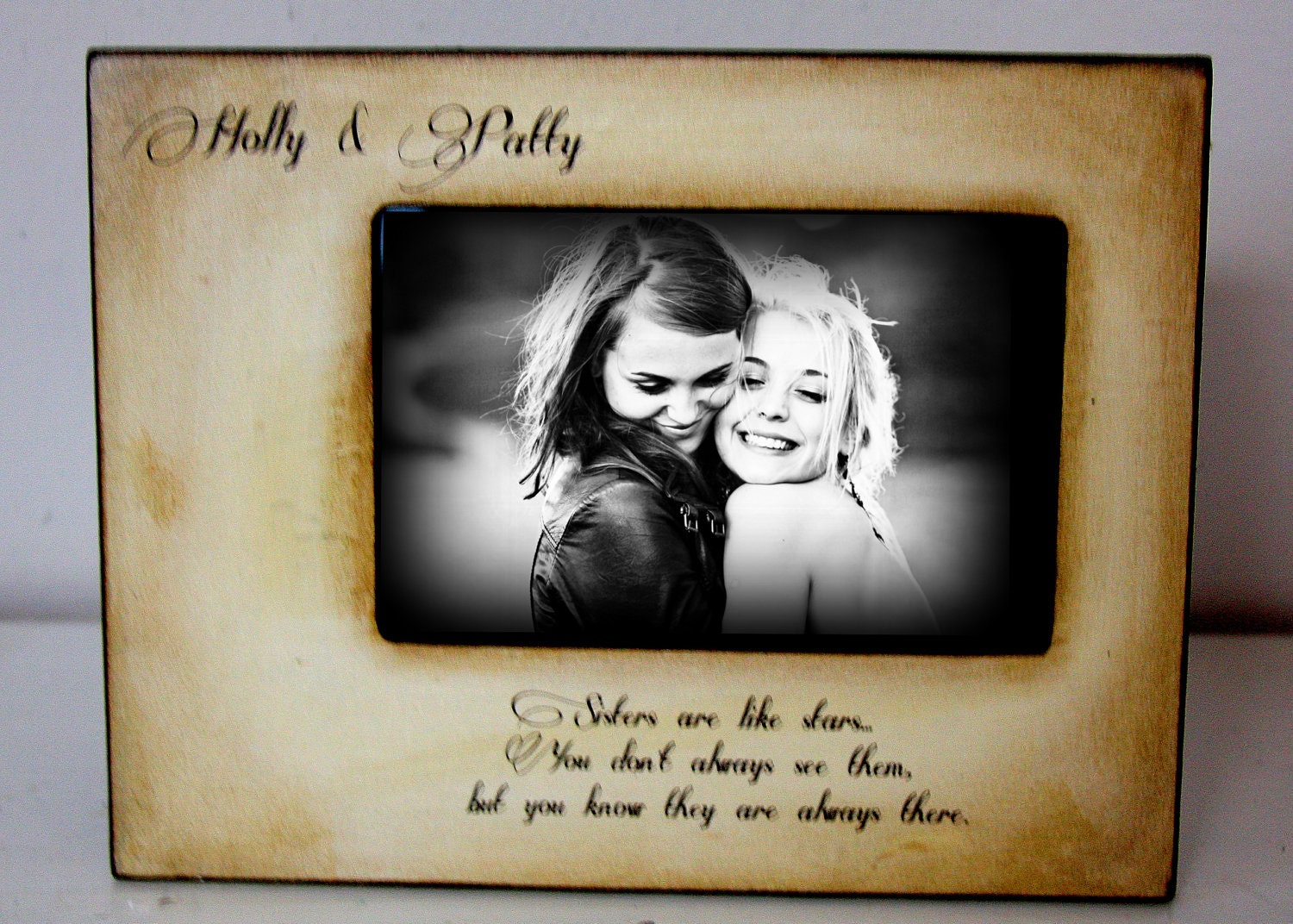 Picture Frame Gift Best Friend Mom Dad Sister Brother 4x6 Etsy