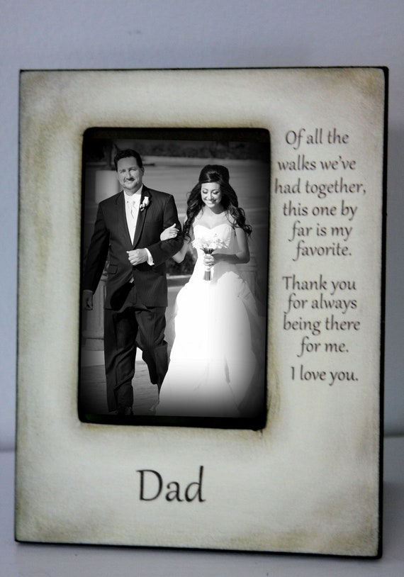 Father Daughter Wedding Frame Bride Walk down the aisle