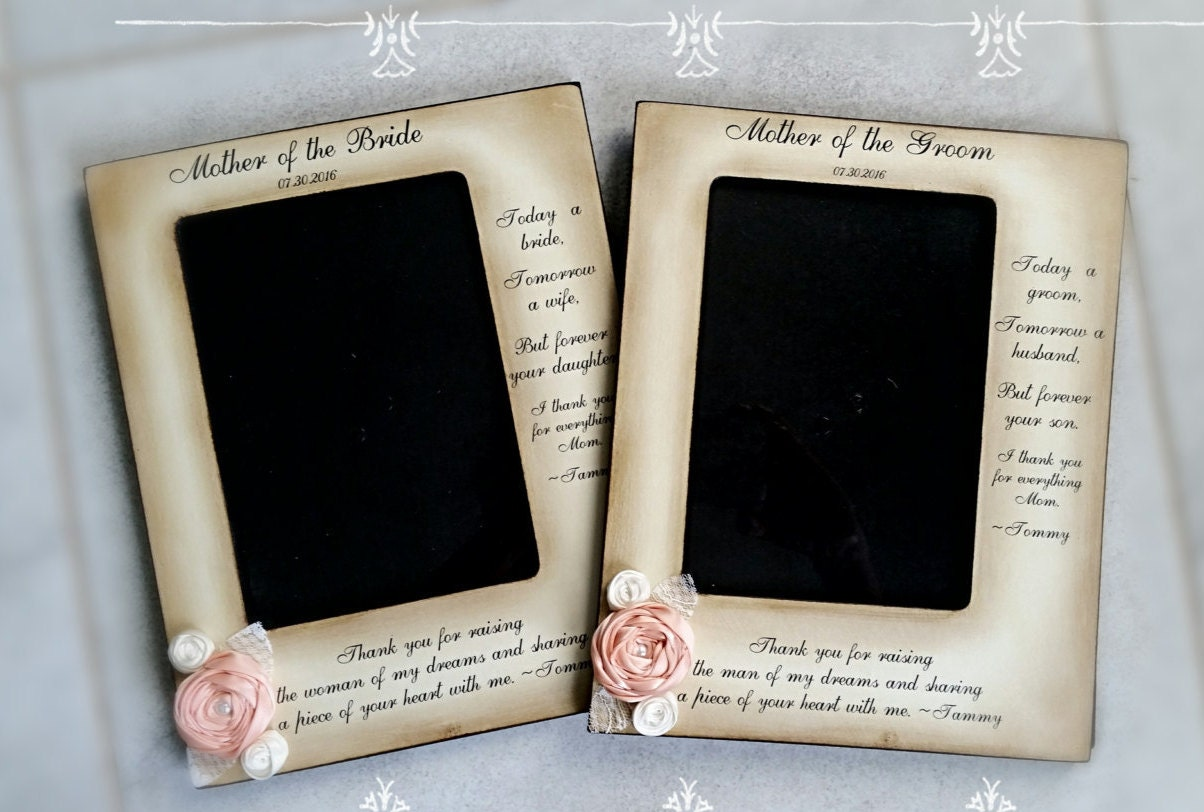 Mother of the Groom Bride Frame from bride and groom two | Etsy