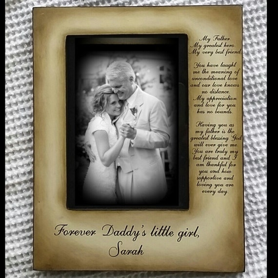Father Daughter Wedding Frame Bride Just For Dad Father of the