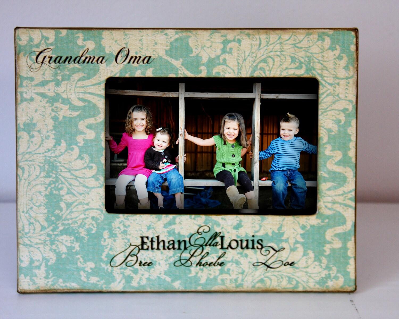Großeltern-Bilderrahmen mit Enkeln Namen 4 x 6 Vintage | Etsy