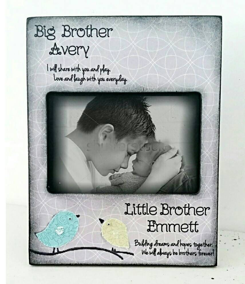 Big brother grey Little brother kids room decor nursery birds | Etsy