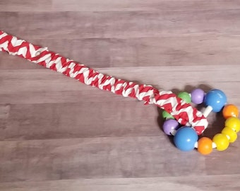 Sippy Cup Strap Red and White CHevron - Ready to Ship