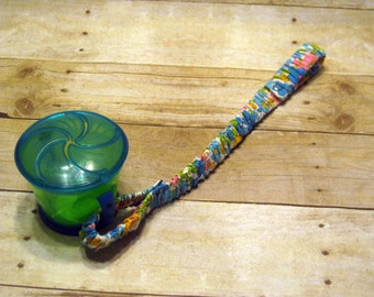 Sippy Cup Strap Yellow, Pink, Blue & Green Floral - Ready to Ship