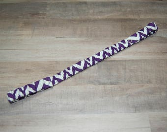 Sippy Cup Strap Purple Chevron- Ready to Ship