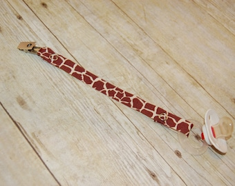 Pacifier Clip, Giraffe, Personalization Available, Ready to Ship