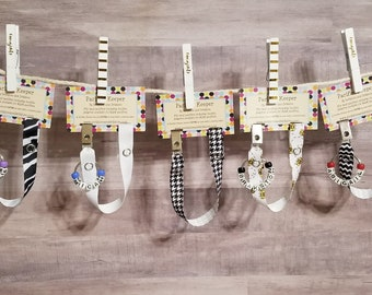 Grab Bag Pacifier Clips Set of 5, Over 70 Colors, Personalization Available, Ready to Ship