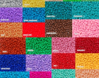 Choose you Color* Opaque 6x9 mm Barrel Pony Beads