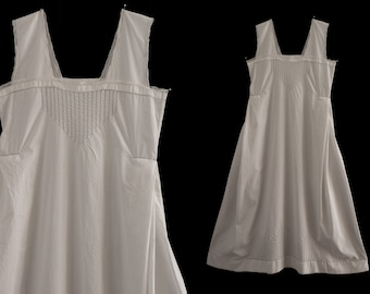 1920 Old embroidered white long dress, size XS, lingerie dress