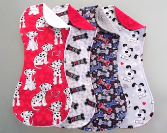 "Dalmations and ""I Love My Dog"" Terry and Flannel Burp Cloth Set"