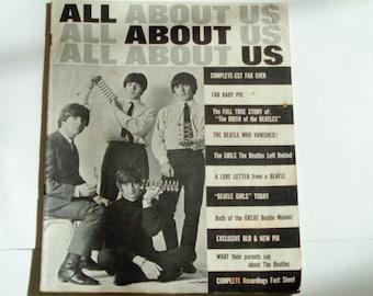 The Beatles - All About Us Magazine 1965 - Beatles Photos - John Lennon Paul McCartney George Harrison Ringo Starr - Beatles Collectible