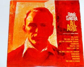 "Frank Sinatra - All Alone - ""Are You Lonesome Tonight""  Gordon Jenkins - Original Mono Reprise 1962 - Vintage Gatefold Vinyl LP Record Album"