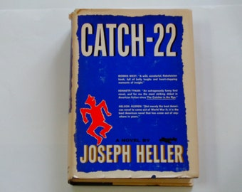 Catch 22 - Joseph Heller - Simon & Schuster 1961 BCE - American Lit - WWII Historical Fiction - Vintage Literary Novel Hardcover Book