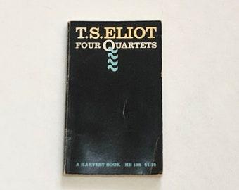 "T.S Eliot - Four Quartets - Harvest Paperback 1971 - Poetry - ""Burnt Norton"" - Vintage English Poetry Book"