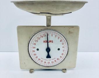 Antique Krups Kitchen Scale & Pan Art Deco, Industrial, Antique Alchemy